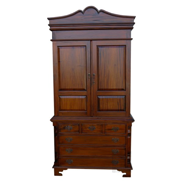 Linen Press Wardrobe over Chest