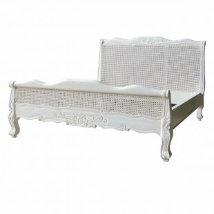 Louis rattan low footboard king size bed