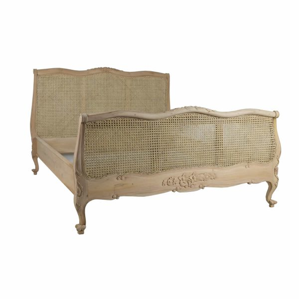Louis rattan bed raw