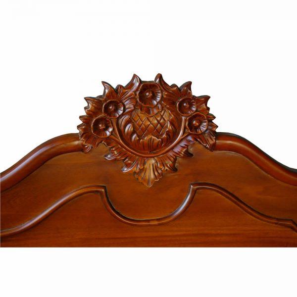 Mahogany low poster bed