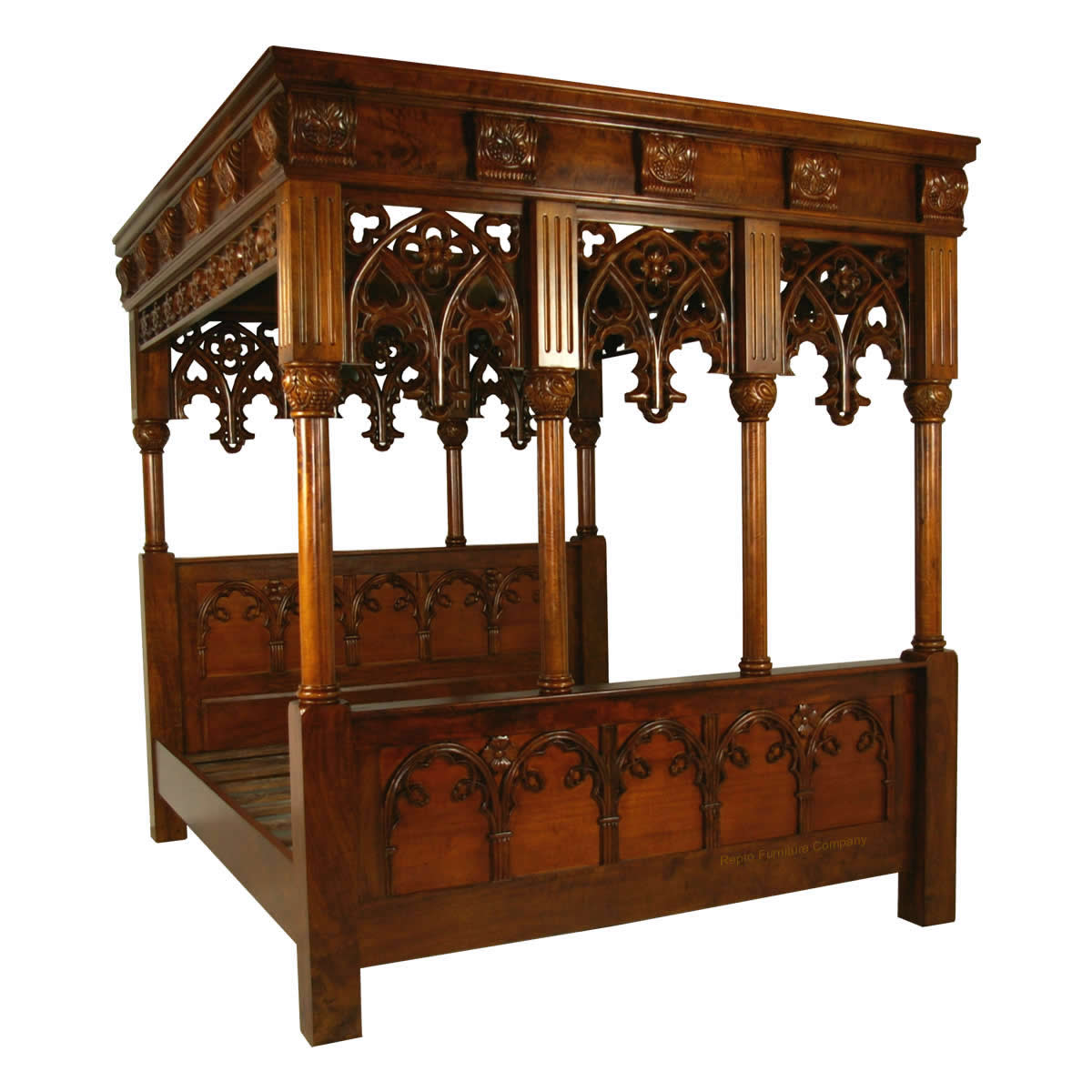 Gothic Four Poster Bed Super King Repro Furniture Company