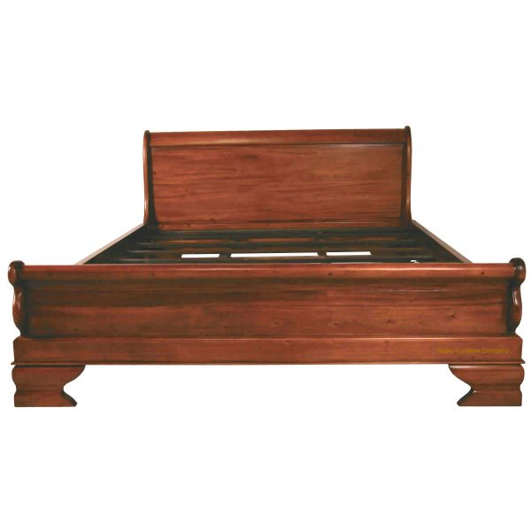 Sleigh bed ultra low footboard