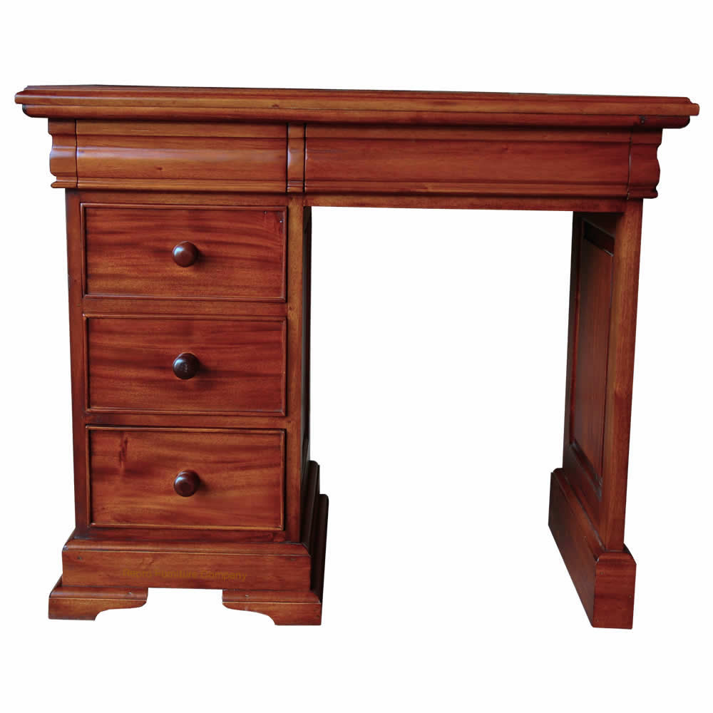 Sleigh desk dressing table
