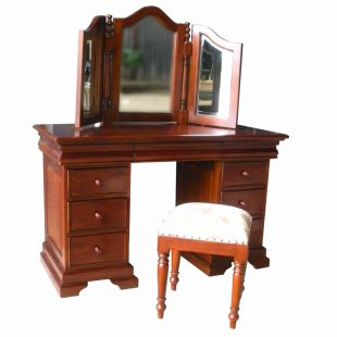 Sleigh mahogany dressing table