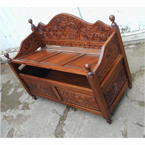 Mahogany Monks Bench