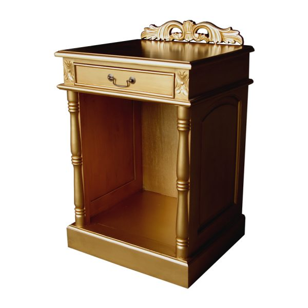 Gold hotel fridge cabinet