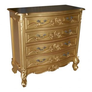 Rococo Gold Chest of Drawers