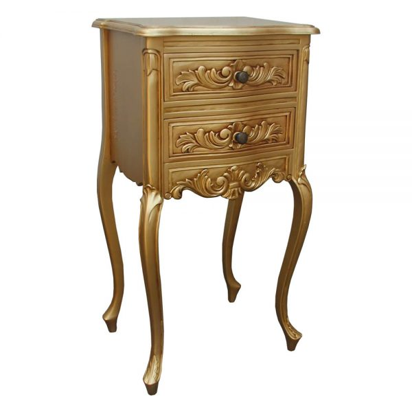 Gold French Bedside Chest