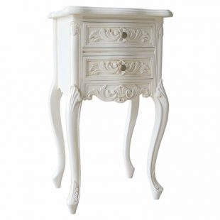 French White Bedside Chest