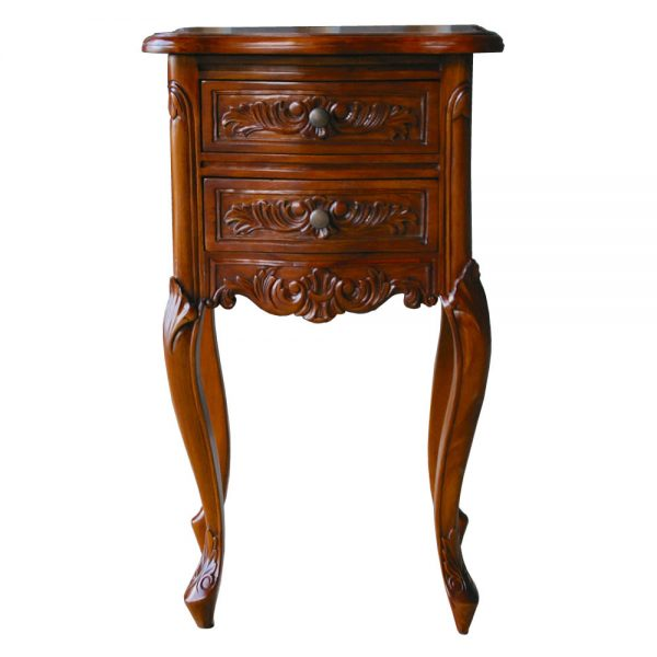 Mahogany French Bedside Table