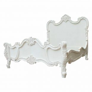 French white Rococo bed