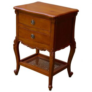 french rattan bedside