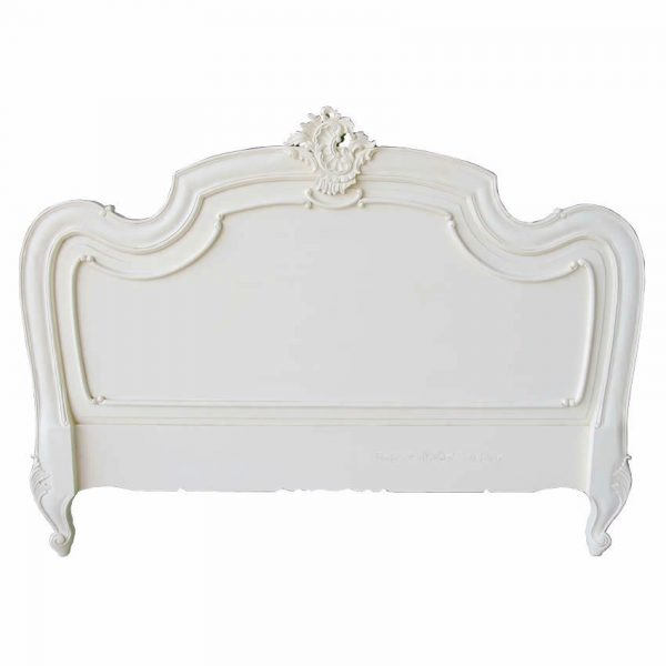 French Louis antique white headboard