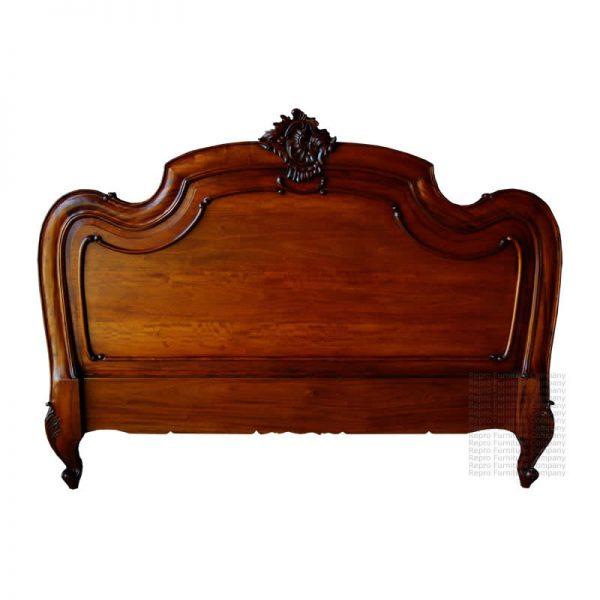 French Carved Louis Mahogany Headboard