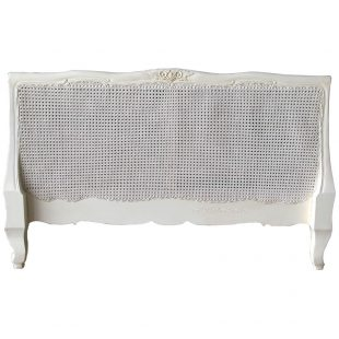 White Louis Rattan Headboard