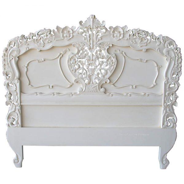 Rococo Headboard in Antique White