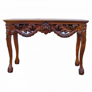 Mahogany Chippendale console table