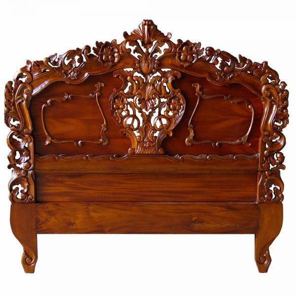 Mahogany Rococo Headboard