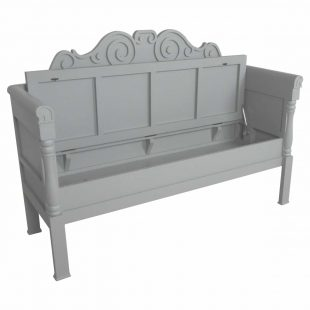 Grey bench with lid