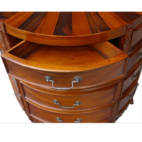 Sunburst chest of drawers