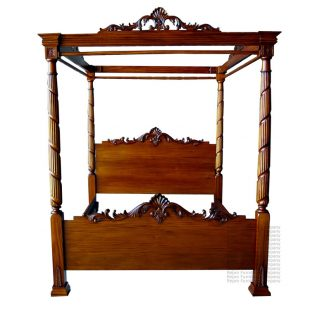 Mahogany Lincoln Four Poster Bed