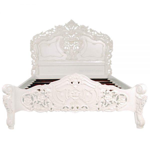 Rococo White Bed