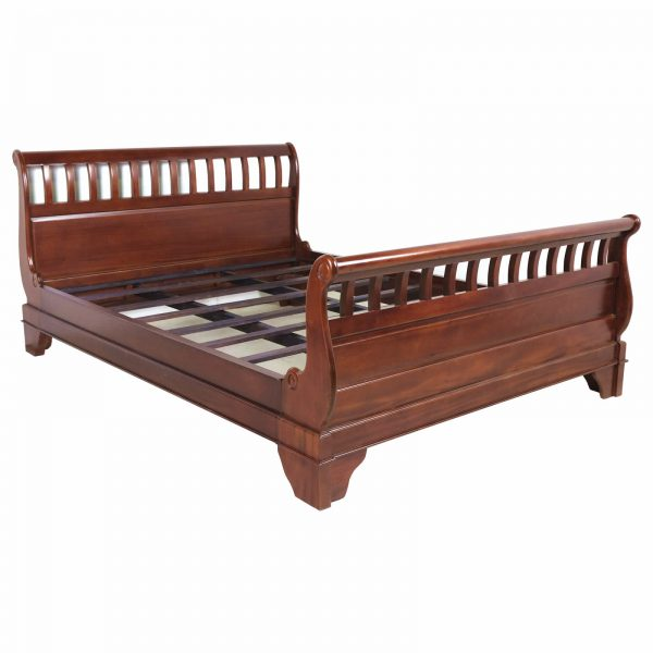Mahogany Slatted top sleigh bed
