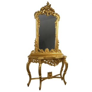 Rococo grape gold console table