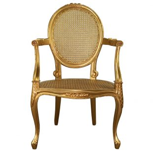 Rococo Gold Salon Bedroom Chair