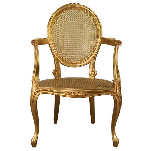 Rococo Gold Salon Bedroom Chair