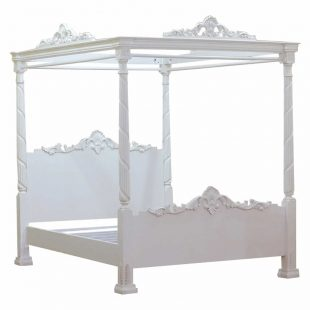 White Lincoln Four Poster Bed