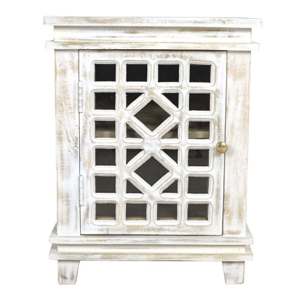 Reclaimed Wood White Wash Bedside