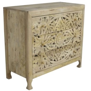 Reclaimed wood filigree chest