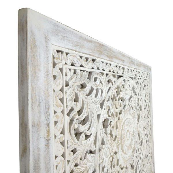 Indian White Wash Headboard Panel