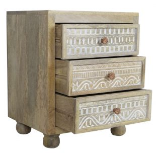 Mango Wood Bedside Chest