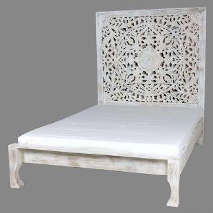 Mango White Wash Mandala Bed