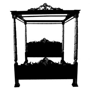 Black Lincoln Four Poster Bed